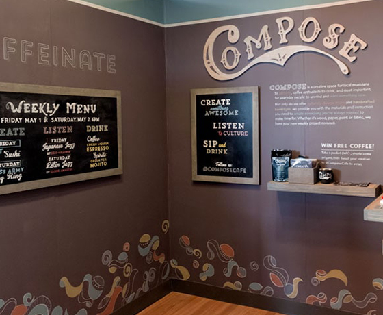 Compose Cafe Branding Design